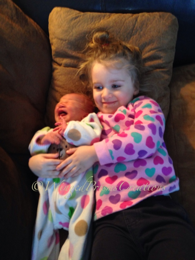 Lucy and baby sis, Penny June