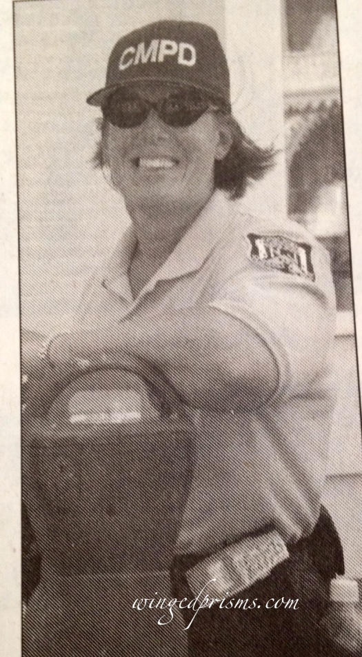 Local paper thought it fun to take my pic! Not sure they liked me......